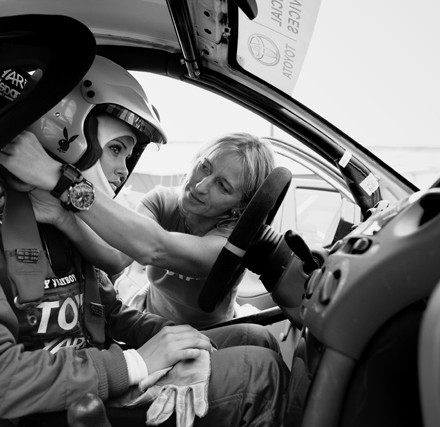 giuliana marino / isolde holdenried / kunde: playboy / nürburgring 2006 / foto: nils hendrik mueller