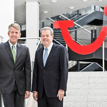 Fritz Joussen ( CEO TUI AG ), Peter Long ( CEO TUI Travel ), Kunde: TUI AG / Hannover 2014 / Foto: Nils Hendrik Mueller
