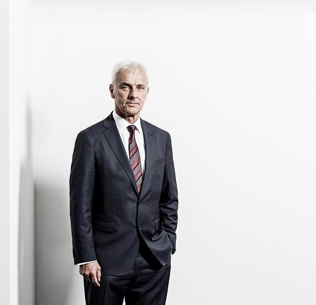 Matthias Müller / Vorstandsvorsitzender / Volkswagen AG / Medium: Wirtschaftswoche / Wolfsburg 2015 / Foto: Nils Hendrik Mueller