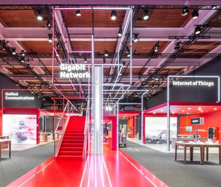 Kunde: Vodafone / Hannover Cebit 2016 / Foto: Nils Hendrik Mueller