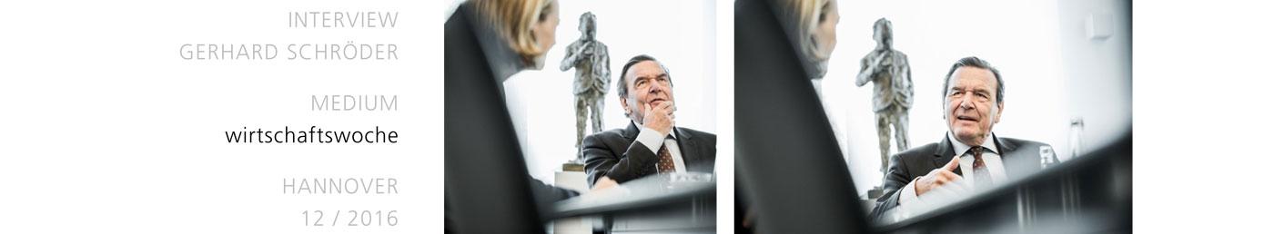 INTERVIEW, GERHARD SCHRÖDER, MEDIUM: wirtschaftswoche, HANNOVER, 12 / 2016
